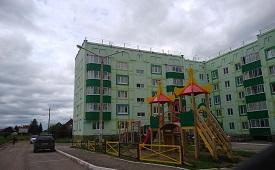 Ограждение детской площадки в с. Лобаново