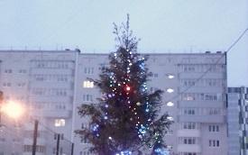Новогодняя ёлочка на придомовой территории по адресу: ул. Целинная, 45, 47 и 49а