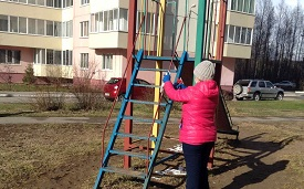 Дезинфекционная обработка детских площадок