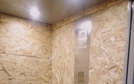 Обшивка лифтов в доме по адресу ул. Красавинская, 8