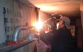 Ремонт трубопроводов в доме по адресу ул. Делегатская, 35
