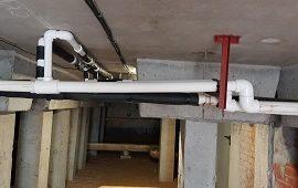 Замена участка трубопровода в доме по адресу ул. Строителей, 9