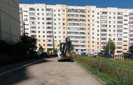 Частичный ремонт дорог возле домов по адресу ул. Делегатская 39а и 45