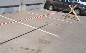 Разметка парковочных мест на придомовой территории по адресуул. Кронштадтская, 47