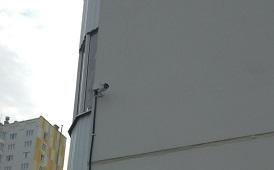 Установка камер видеонаблюдения в доме по адресу ул. Целинная, 45