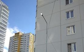Замена светильников на придомовой территории по адресу ул. Целинная, 45