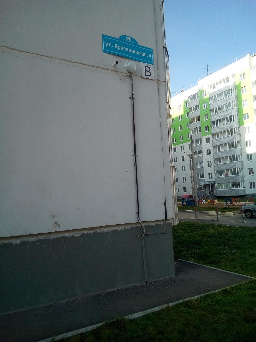Установка видеокамер на фасаде дома